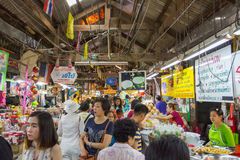 Vendors are selling some food at Don Wai Floating market. NAKORN PATHOM THAILAND MAR 13 : vendors are selling some food at Don Wai Floating market on 13 March Stock Photo