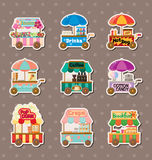Vendors stickers. Cartoon vector illustration Royalty Free Stock Photo
