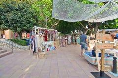 Vendors and visitors at the Sunset Market Puerto Portals
