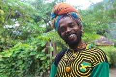 Vendour jamaicano da rua Imagens de Stock