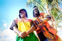 Vendours giamaicani della via Immagini Stock
