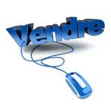 Vendre, pour se vendre en français Images stock