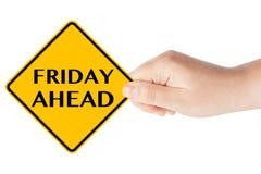 Signe de vendredi en avant image libre de droits