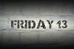 Vendredi 13 GR Photographie stock libre de droits