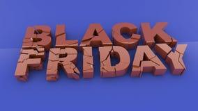 Vendredi noir Image libre de droits