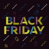 Vendredi noir Drapeau de vente illustration stock