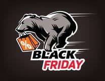 Vendredi noir emblème Photos libres de droits