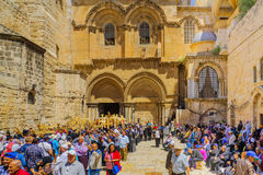 Vendredi Saint orthodoxe 2016 à Jérusalem Photographie stock libre de droits