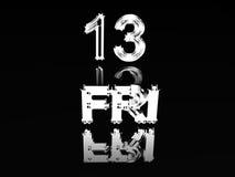 vendredi treizième Images libres de droits