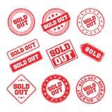 Vendu Logo Badge Photographie stock libre de droits