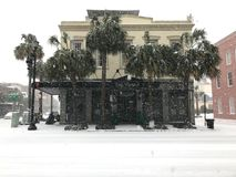The Vendue.   Snowstorm of 2018 Royalty Free Stock Images