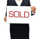 venduto Immagini Stock
