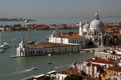 Venece Puntadella Dogana and Santa Mariadella Salute Royalty Free Stock Photo