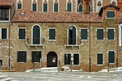 Venecia, abadía anterior de San Gregorio foto de archivo