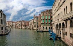 Venecia - canal de Grang Fotografía de archivo