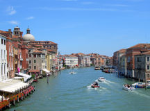 Venecia, canal grande fotografía de archivo