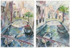 Venecia, drenando stock de ilustración