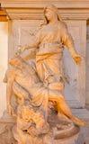 Venecia - el byc del Pieta (1668 - 1752) en la iglesia Chiesa di San Moise foto de archivo libre de regalías