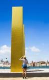 Venecia - el cielo sobre nueve columnas - Heinz Mack fotografía de archivo libre de regalías