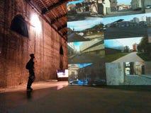 Venecia, el 18 de octubre de 2014: padiglione Italia Foto de archivo libre de regalías