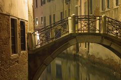 Venecia en la noche Fotos de archivo libres de regalías