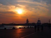 Venecia en la puesta del sol Fotos de archivo libres de regalías