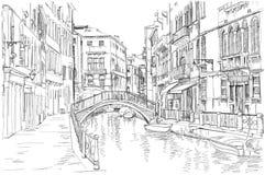 Venecia - Fondamenta Rio Marin Imágenes de archivo libres de regalías