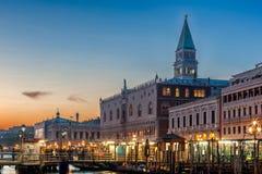 Venecia, Gran Canal y el cuadrado de las marcas del santo Fotografía de archivo libre de regalías