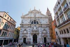 Venecia, iglesia San Moise, Italia imagenes de archivo