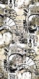 Venecia ilustracja abstrakcjonistycznego grafiki t?a abstrakcjonistyczny wektor bezszwowy wzoru ilustracji