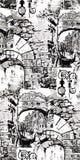 Venecia ilustracja abstrakcjonistycznego grafiki t?a abstrakcjonistyczny wektor bezszwowy wzoru ilustracja wektor