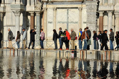 Venecia inundó Imagen de archivo libre de regalías