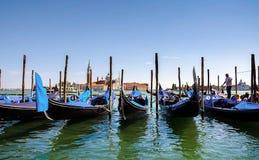 Venecia, Italia 31 de agosto de 2016 Venecia con las góndolas Fotos de archivo libres de regalías