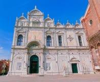 Venecia, Italia - 10 de mayo de 2014: El Scuola Grande di San Marco Fotos de archivo libres de regalías