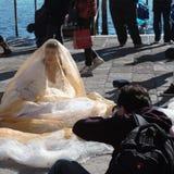 Venecia, Italia, en febrero una de los carnavales más famosos del mundo para experimentarla en la primera persona fotos de archivo libres de regalías
