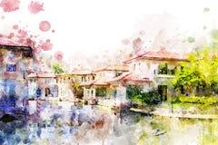 Venecia, Italia, estilo de Grand Canal en Tailandia libre illustration