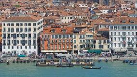 Venecia, Italia Paisaje aéreo del abejón que sorprende del degli Schiavoni de Riva fotografía de archivo libre de regalías