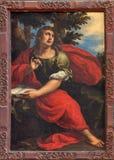 Venecia - pintura de San Juan Evangelista en la iglesia Papá Noel M Imagenes de archivo