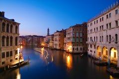 Venecia por noche Fotografía de archivo
