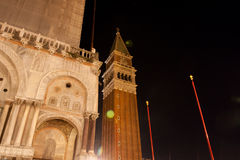 Ciudad de Venecia en la noche Fotografía de archivo
