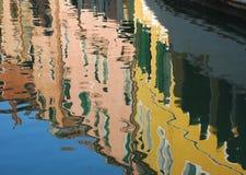 Venecia, reflexiones del agua Fotos de archivo libres de regalías