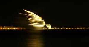 Venecia, VE - Italia 10 de julio de 2015: el barco de cruceros sale de VE Fotografía de archivo libre de regalías