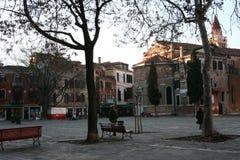 Venecia, vista del 'polo de Campo san ' imagen de archivo