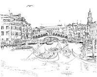 Venecia - vista del puente de Rialto Fotos de archivo
