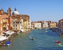 Venecia, vista panorámica de Grand Canal Foto de archivo libre de regalías