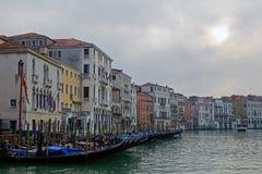 Venecia y góndolas Fotografía de archivo