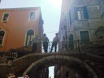 Venecia y gondolieres Fotografía de archivo