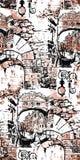 Veneciaillustratie Vector kunstwerk Naadloos patroon stock illustratie