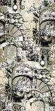 Veneciaillustratie Vector kunstwerk Naadloos patroon vector illustratie