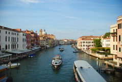 Venecian Boats. Boats/Yatchs in Venetian main channel Royalty Free Stock Photo